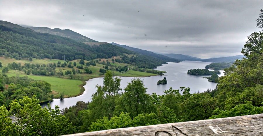 Queens View at Loch Tummel