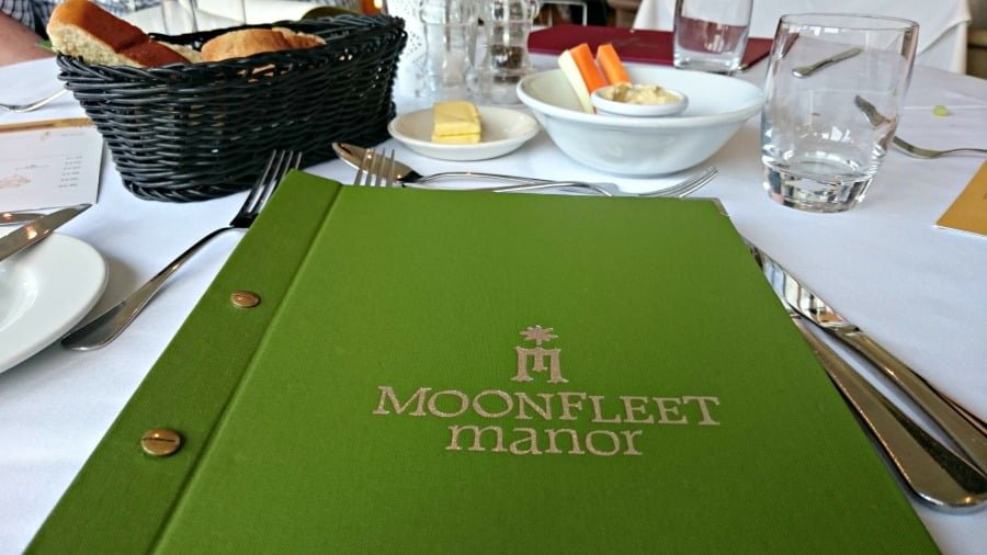 The Moonfleet Manor Menu