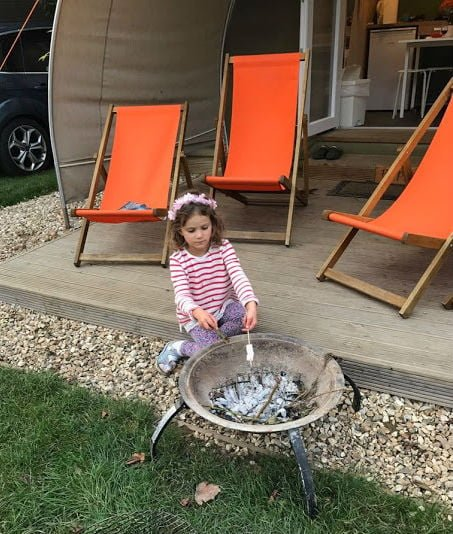 Toasting marshmallows at Oakdown Holiday Park