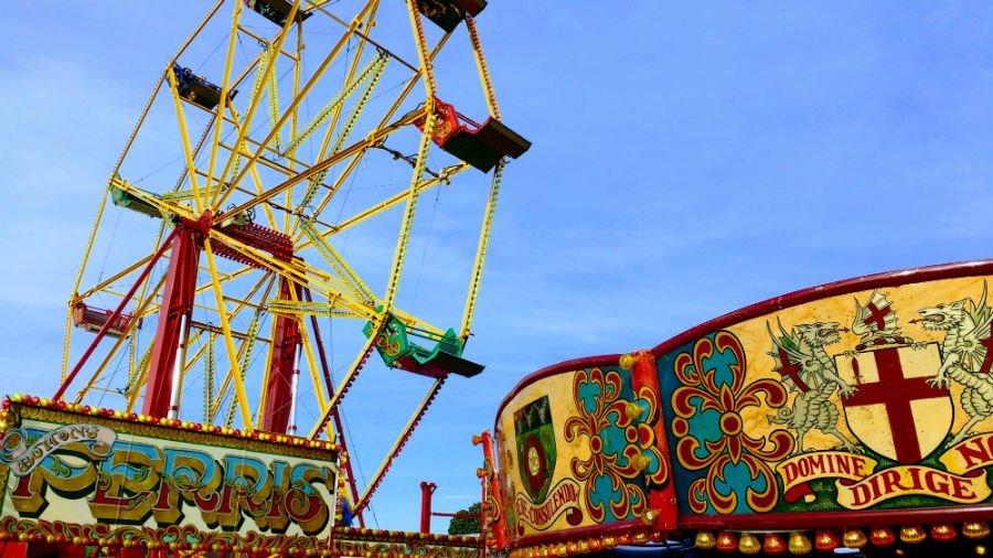 The fairground at Malvern Autumn Show