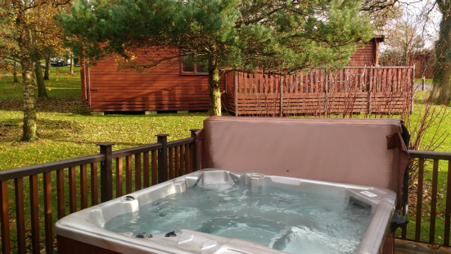 Hot tub at Sandybrook Country Park