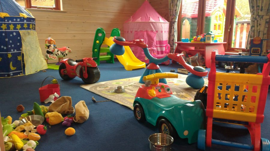 Toddler soft play at Sandybrook Country Park