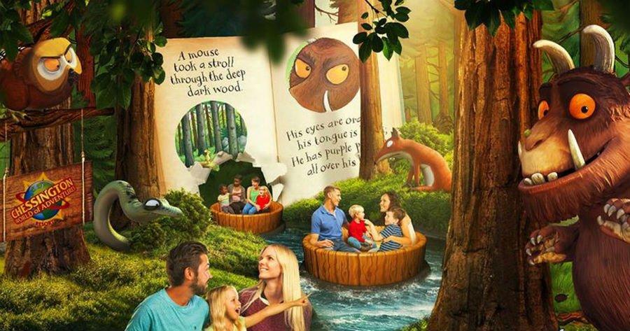 Gruffalo Ride - Chessington world of adventure - theme park for toddlers