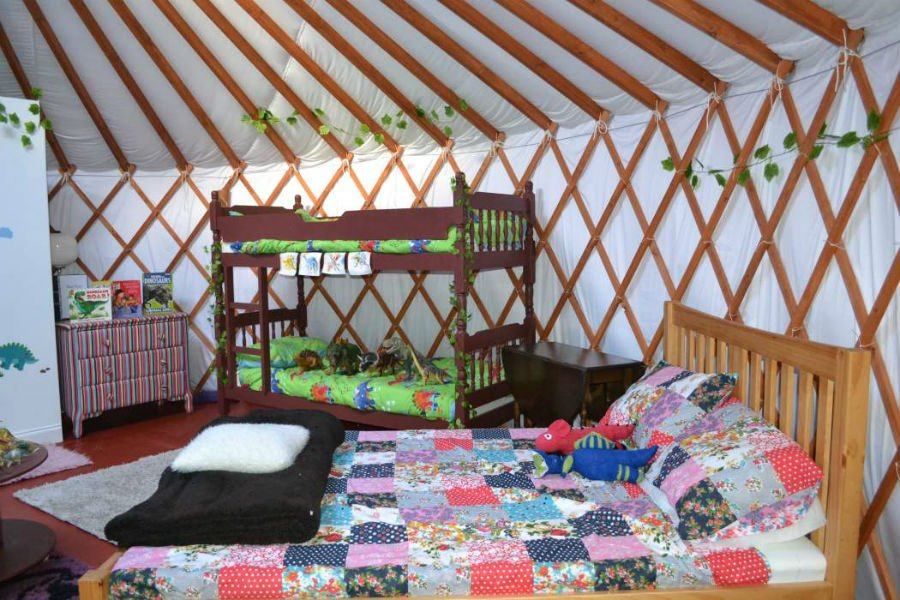 Kids Love Yurts - baby and toddler friendly place to stay in the Isle of Wight