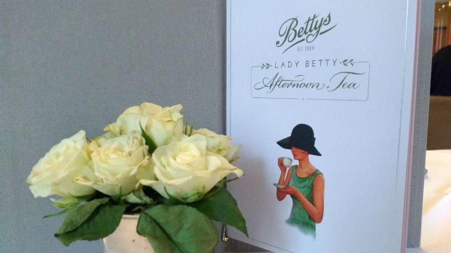 menu and flowers