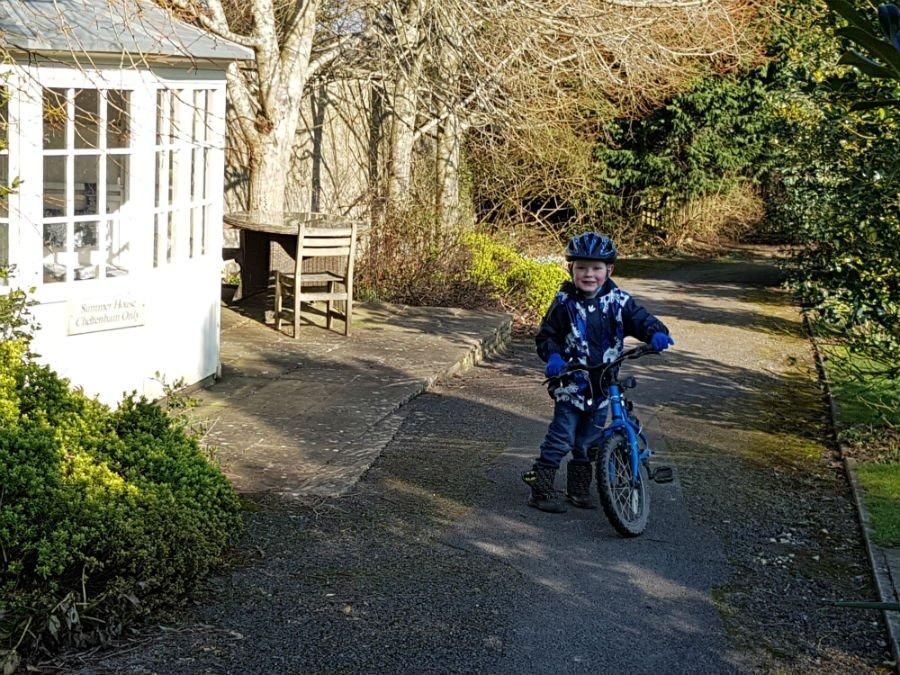 Daniel on a Bike