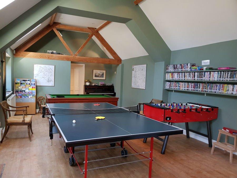 Games room at Bruern Cottages