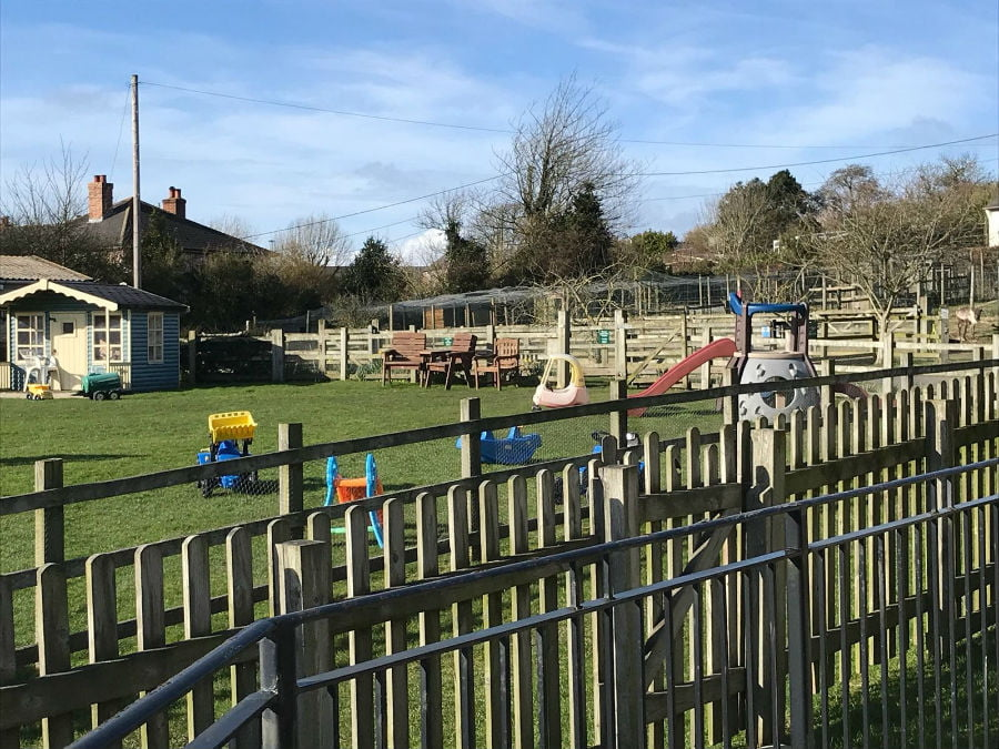 Play area at Nettlecombe Farm