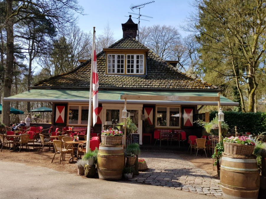 Cafe in the woods at the Visitor Centre at Oisterwijk
