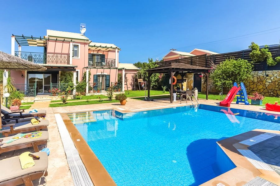 baby and toddler friendly villa in corfu