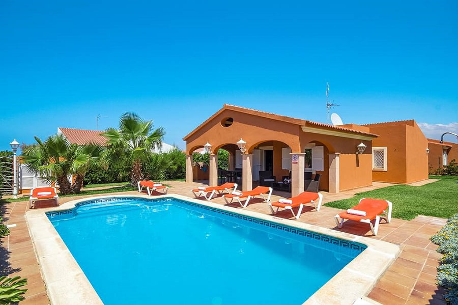 baby and toddler friendly villa in menorca