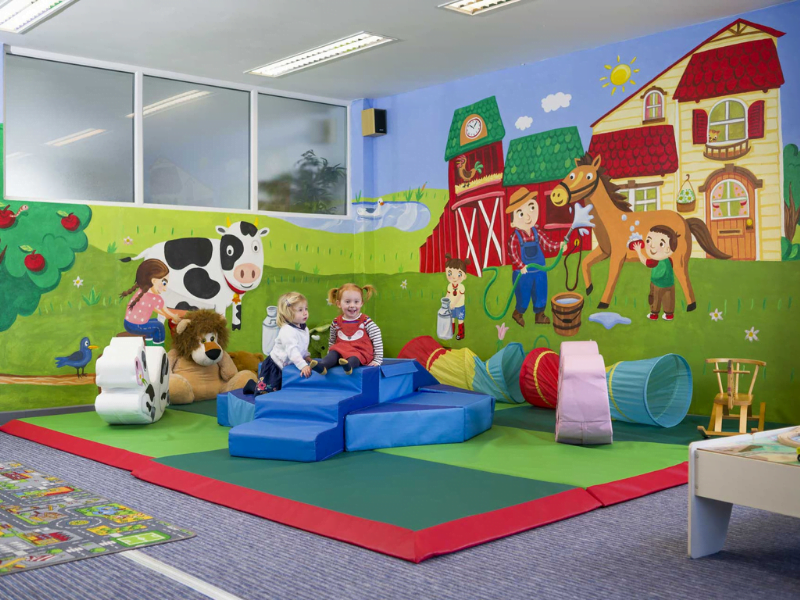toddler friendly cottage with a soft play